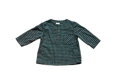 Ethan Shirt, Charcoal Check