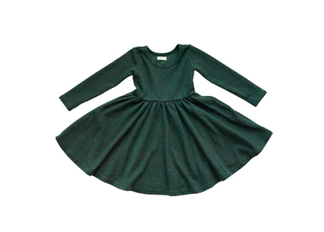 Mia Dress, Deep Green