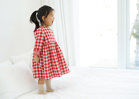 Rosa Dress, Red Check
