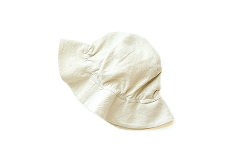 Kids Sun Hat, Light Beige Linen