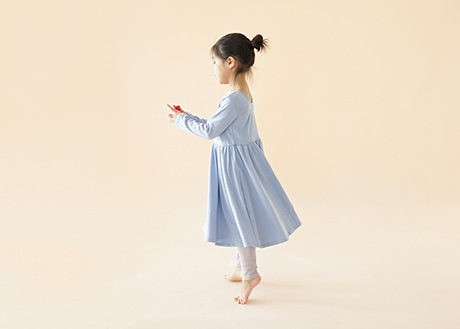 Nina Dress, Dusty Blue