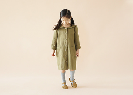 Sailor Trench Coat, Olive